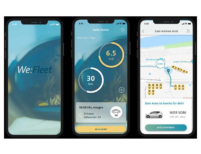 VW app pages